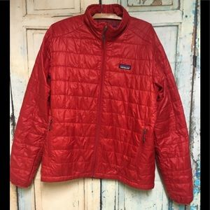 """Patagonia Red Nano Puff Packable Jacket M 46"""""""